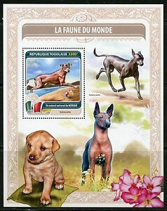 TOGO  2016 FAUNE OF THE WORLD DOGS FROM MEXICO SOUVENIR  SHEET MINT NH