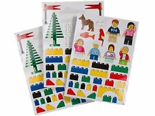 NEW RARE HTF LEGO CITY BUILD IT! WALL STICKERS / DECALS  3 SHEET SET
