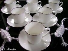 Rosenthal Silver Curve Silver 6 x Kaffeetassen mit Untere ***NEUWARE 1.Wahl***