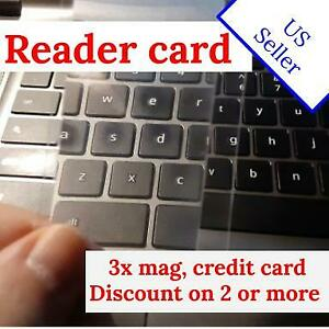 Reading magnifier, 3x mag, credit card size, unbreakable plastic - US seller