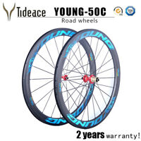 Blue Young 700C25MM Carbon Fiber Road Bike Wheels F20 R24 OEM Road Bicycle Wheel