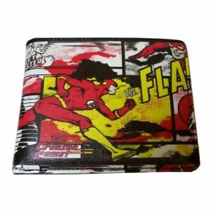 DC Comics The Flash Comic Style All Over Print Bi-Fold Wallet - Justice League