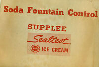 SEALTEST ICE CREAM vintage Soda Fountain Control Supplee inventory profit sheets