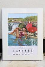 VESPA PIAGGIO Vintage SEPT 1966 Calendar MODS 50 SCOOTER Mariagrazia Buccella