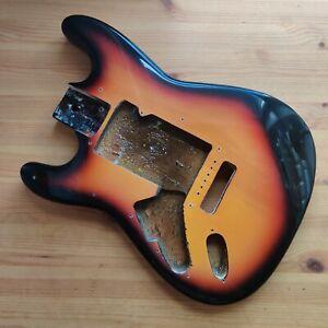 Used Left Handed 90s Stratocaster Strat Style Body Sunburst Full Depth