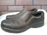 Hommes Eastland Marron Mocassins Cuir à Enfiler Chaussures Taille 10.5 M