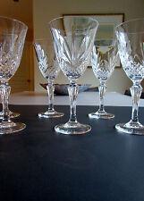 "Vtg Glassware : Crystal d' Arques J.G Durand Set of 6 Wine / Water Goblets  6"" ½"