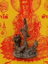 Statue Kuan yin Buddha Bodhisattva of Compassion + Pha Yant Thai Amulet Guanyin