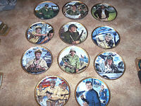 11 John Wayne Plates Marines Army Navy Airforce Franklin Mint Plate Collection