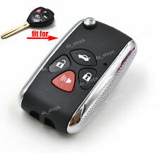 4 Buttons Flip Key Case Shell For Toyota Camry Avalon Corolla Matrix RAV4 Venza