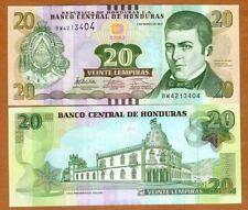 Honduras, 20 Lempiras, 2012, P-100, UNC > Braille