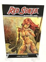 Red Sonja She-Devil with a Sword Vol 5 World on Fire Dynamite HC Hard Cover New