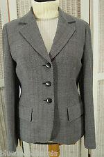 "MAX MARA Wool Blazer UK12/EU38 36"" Bust Loose Woven Chevron Suit Jacket Woolmark"