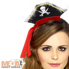 Pirate Hat on Headband Adults Caribbean Buccaneer Fancy Dress Costume Accessory