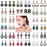 Fashion Women Lady Elegant Crystal Ear Stud Drop Dangle Earrings Wedding Jewelry