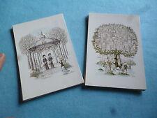 Raymond Peynet :  2 Cartes dessins des  Signes du Zodiaque Gémeaux Sagittaire