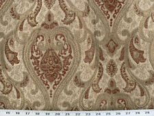 Drapery Upholstery Fabric Sussex Traditional Chenille Jacquard - Rust