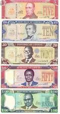 Liberia 5+10+20+50+100 Dollars 2011 year  set 5PCS BrandNew Banknotes