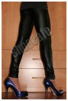 Skinny Leggings Leder-Optik Leggins schwarz glänzend stretch Röhre
