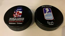 Official IIHF Hockey game puck World Championship Czech Republic 2020