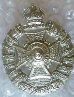 The Rifle Brigade (Prince Consort's Own) Regiment Cap Badge KC WM 2 Lugs ANTIQUE