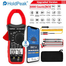 Trms 6000 Counts Ncv Clamp Meter With Bluetooth Ac Dc Volt Current Multimeter Us