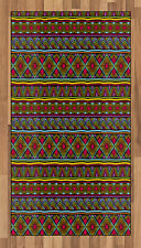 African Area Rug Decorative Flat Woven Accent Rug for Home Decor in 2 Sizes