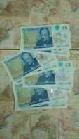 am01 churchill five pound polymer note £5 uncirculated like ak47 & aa01
