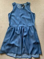 NEXT Denim LOOK Tencel Dress - Size 14