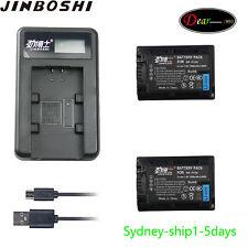 LCD1+2X NP-FV50 Battery for SONY DCR-SX65 DCR-SX65E DCR-SX65S Handycam Camcorder