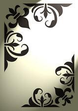 Stencil Corner Flourish Fleur de lis Shabby Chic Vintage A4 Damask furniture