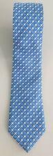 SALVATORE FERRAGAMO blue silk tie with geometric pattern - Excellent condition