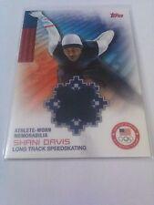 Shani Davis 2014 Topps Team USA Olympics Relic Speed Skating