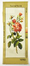Royal Paris Needlepoint Roses Bouquet Wall Tapestry Needlework Flower Floral Art