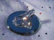 Swarovski® signed Swan Logo crystal High Heel Shoe Glass Slipper Rhodium Mirror