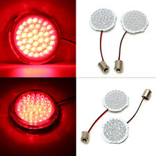 "2"" Red LED Turn Signal 1156 Inserts Bullet Style For Harley Touring Sportster..."