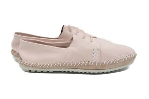 LucyToni Flat Lace Up Pink Soft Leather Comfort Shoes