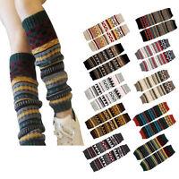 Women Winter Warmer Stockings Ladies Leg Warmers Knitting Fashion Leg Warmers UK