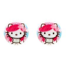 NEW Tarina Tarantino Pink Head Hello Kitty Bridal Round Post Earrings -60% OFF