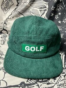GOLF WANG 17 F/W SOLID GOLF CORDUROY CAMP 5-PANEL CAP [GREEN]