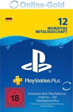 Playstation Plus 12 Monate Mitgliedschaft 365 Tage PSN 1 Jahr Code - PS3 PS4[DE]