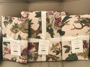Pottery Barn KAMALA FLORAL Queen/Full Duvet 2 Standard Shams New with Tags