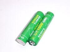 2 batterie AAA bpi ricaricabili  NiZn 1,6V 1000 mWh