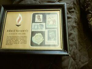 john f kennedy stamps set 5 mounted 1963-75