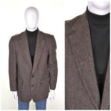 vintage années 70 tweed Blazer L 42L marron laine suit piratage Veste 1970