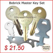 Bobrick Master Dispenser Key Set for Paper Towel, Toilet Tissue & Soap Disp.