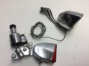 Vintage Schwinn Soubitez Generator Headlight Taillight Chrome