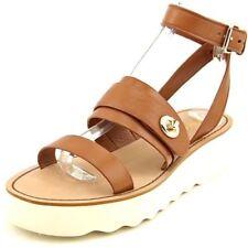 Calzado de mujer sandalias con plataforma de tacón medio (2,5-7,5 cm) de piel