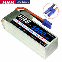 HRB 6S 5000mAh 22.2V LiPo Battery 50C EC5 for HELI PLANE QUAD CAR TRUCK FPV