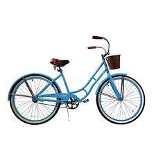 Womens Bicycle Cruiser Bike Women Basket Bikes Beach 26 Inch Vintage Steel Frame